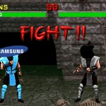 Samsung vs Apple Mortal Kombat Fight