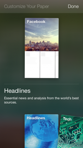 Facebook Paper for iPhone Screenshots