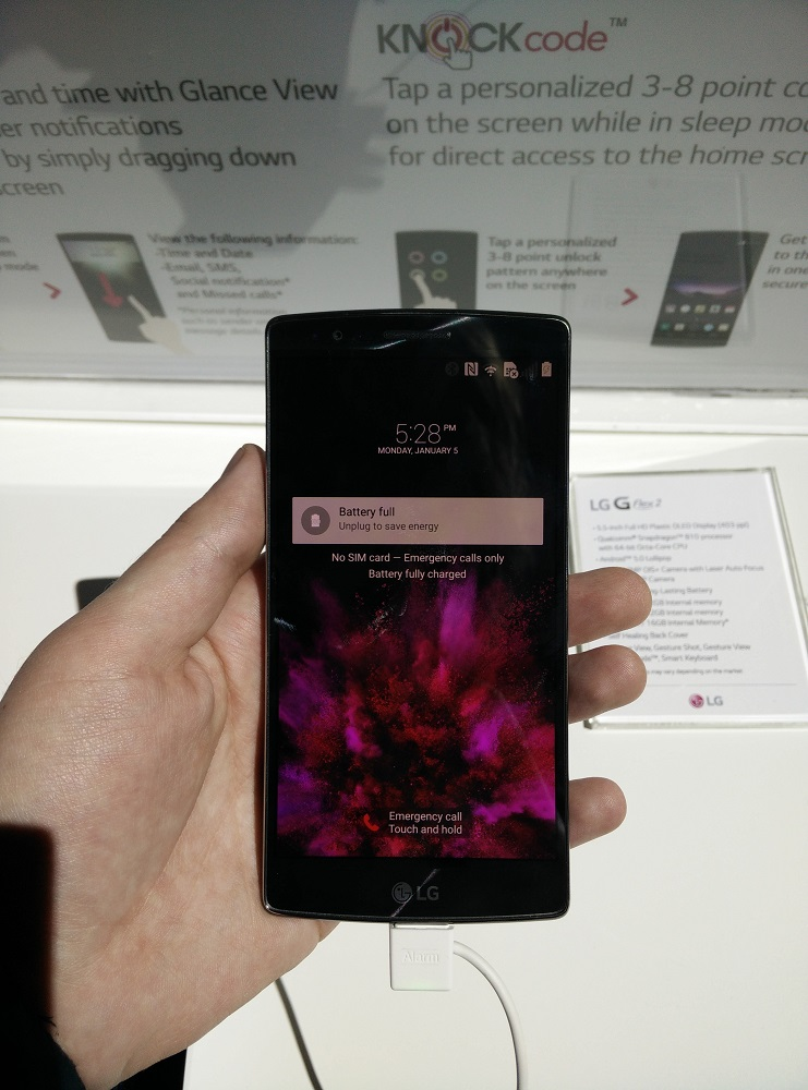 LG G Flex 2 Hands-on Preview: Curved, Because Why Not