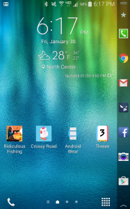 Samsung Galaxy Note Edge home screen
