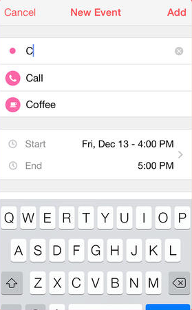 Sunrise Calendar app iPhone