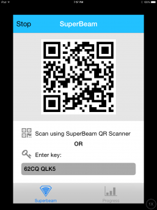 SuperBeam app for iOS